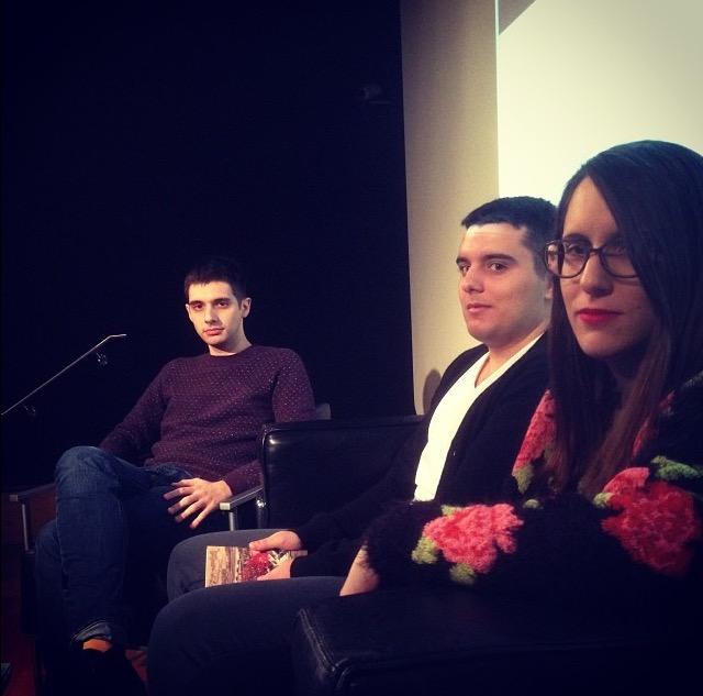 Antonio J. Rodríguez, Carlos González Fuentes y María Yuste. Foto de @lunamonelle.