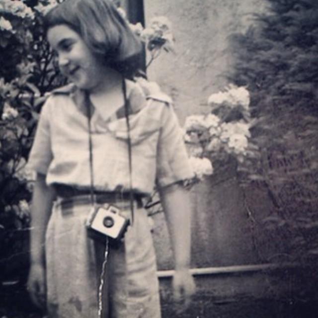 Lena Dunham cuando era pequeña.