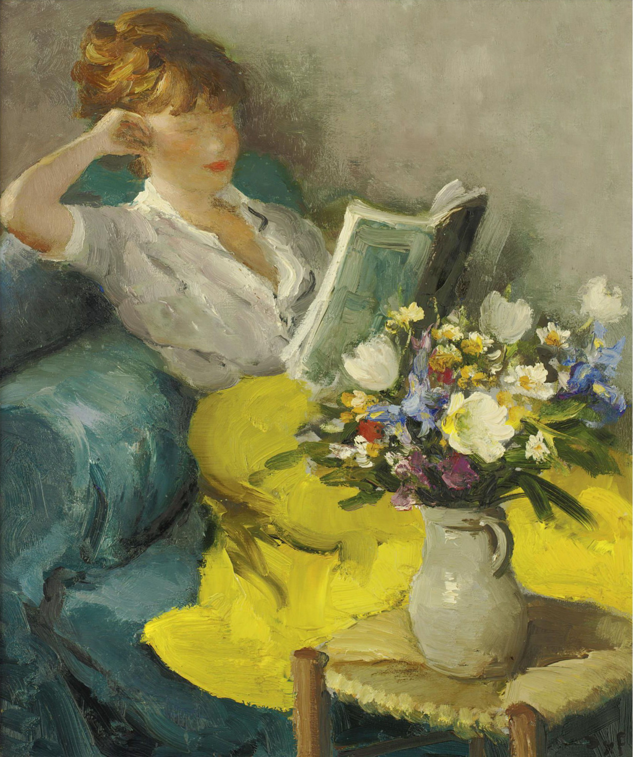 Claudine reading de Marcel Dyf