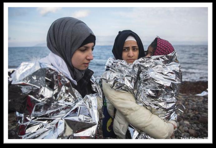 Llegada a Lesbos, 2015. Fotografía de Santi Palacios.
