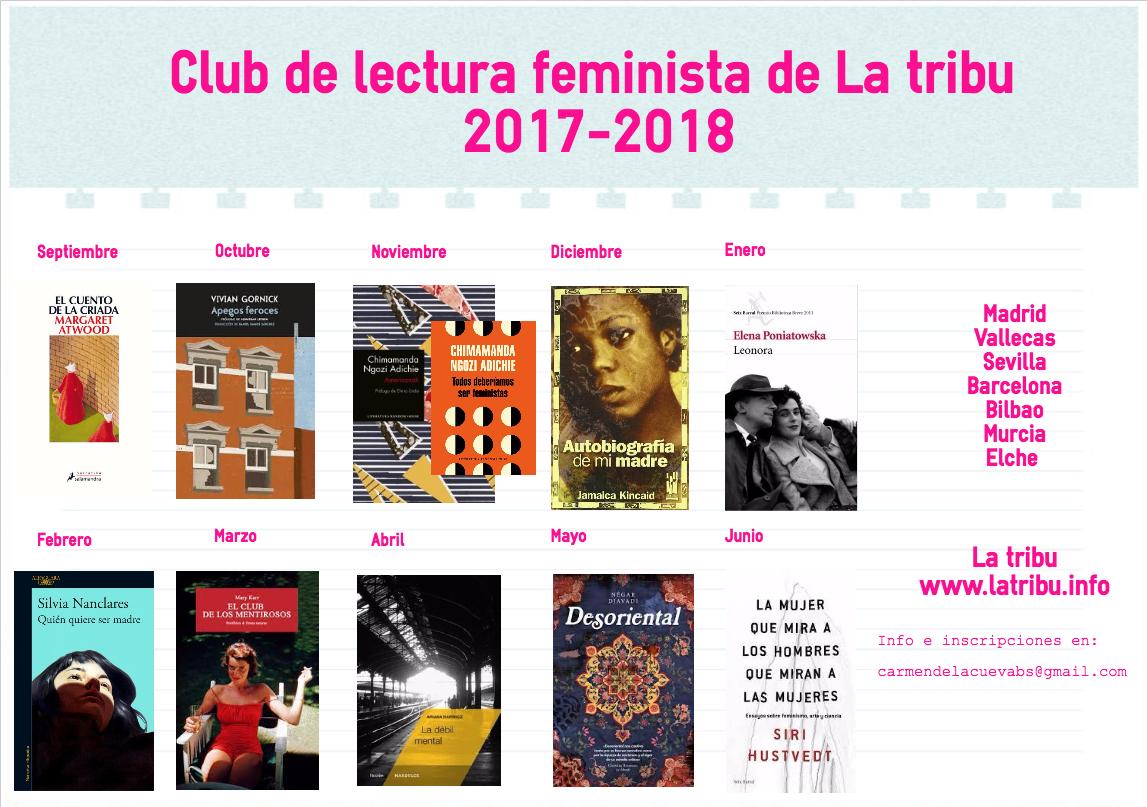 Club de lectura feminista de La tribu 2017-2018